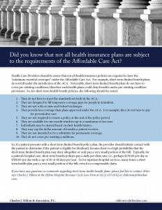 Charles J. Hilton_ACA Requirements Update